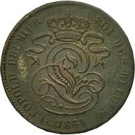 Monnaie, Belgique, Leopold I, 2 Centimes, 1864, TB, Cuivre, KM:4.2 - 1831-1865: Léopold I