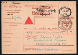B6231 - Altenburg Langenleuba - Landpost Landpoststempel Zahlschein Nachnahme - Deutschland