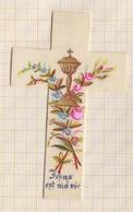8AK2381 Image Religieuse Pieuse CELLULO ? CROIX JESUS EST MA VIE 1889 - Images Religieuses