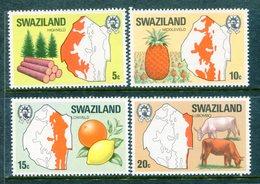 Swaziland 1977 Maps Of The Region Set MNH (SG 280-283) - Swaziland (1968-...)
