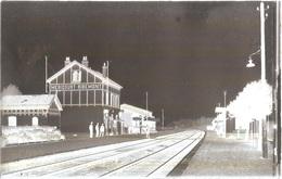 Dépt 80 - MÉRICOURT-L'ABBÉ - PLAQUE De VERRE (négatif Photo Noir & Blanc, Cliché R. Lelong) - Gare - RIBEMONT-SUR-ANCRE - France