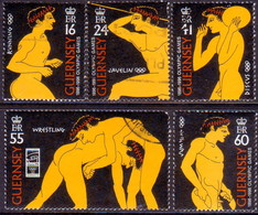 GUERNSEY 1996 SG 705-10 Compl.set+m/s Used Centenary Of Modern Olympic Games - Guernsey