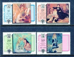 Swaziland 1979 International Year Of The Child - Paintings By Renoir Set MNH (SG 318-321) - Swaziland (1968-...)