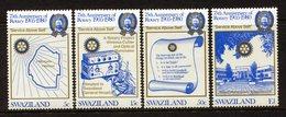 Swaziland 1980 75th Anniversary Of Rotary International Set MNH (SG 336-339) - Swaziland (1968-...)