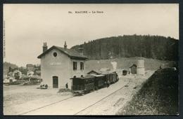 Reproduction Ancienne D'une CPA Sur Papier Cartonné - Maiche - La Gare - Voir 2 Scans - Otros Municipios