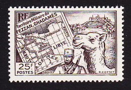 Fezzan, Scott #1N13, Mint Never Hinged, Map, Soldier, Camel, Issued 1946 - Unused Stamps