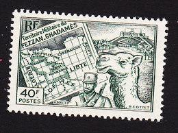 Fezzan, Scott #1N14, Mint Hinged, Map, Soldier, Camel, Issued 1946 - Fezzan (1943-1951)
