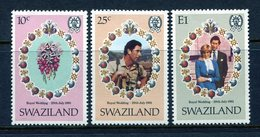 Swaziland 1981 Royal Wedding Set MNH (SG 376-378) - Swaziland (1968-...)