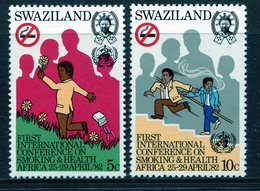 Swaziland 1982 Pan-African Conference On Smoking And Health Set MNH (SG 397-398) - Swaziland (1968-...)