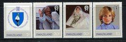 Swaziland 1982 21st Birthday Of Diana, Princess Of Wales Set MNH (SG 404-407) - Swaziland (1968-...)