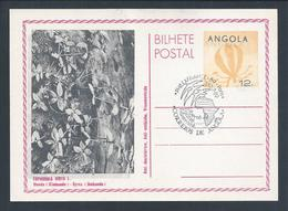 Postal Stationery With Double Impression Angola.Ganzsachen Mit Doppeldruck Angola.Stylized Map Angola.Euphorbia Hirta.2s - Angola