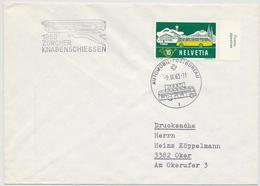 314 / 586 Brief Nach Oker Mit Automobilpoststempel 1963 Zürcher Knabenschiessen - Marcophilie