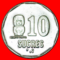 # CANADA: ECUADOR ★ 10 SUCRES 1991 MINT LUSTER! LOW START ★ NO RESERVE! - Equateur
