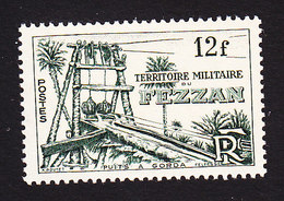 Fezzan, Scott #2N7, Mint Hinged, Well At Gorda, Issued 1949 - Unused Stamps