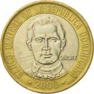 Monnaie, Dominican Republic, 5 Pesos, 2008, TB+, Bi-Metallic, KM:89 - Dominicaine