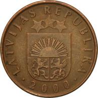 Monnaie, Latvia, 2 Santimi, 2000, TTB, Copper Clad Steel, KM:21 - Lettonie