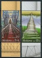 "MOLDAVIA/ MOLDOVA/ MOLDAU - EUROPA 2018  - ""PUENTES.- BRIDGES - BRÜCKEN - PONTS"" - SERIE HOJITA BLOQUE -CARNET TIPO Nº 2 - 2018"