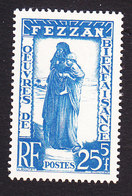 Fezzan, Scott #2NB2, Mint Hinged, The Unhappy Ones, Issued 1950 - Fezzan (1943-1951)