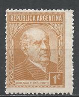 Argentina 1935. Scott #419 (M) Sarmiento * - Argentine
