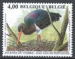 Belgium 2005. Scott #2081 (U) Black Stork, Bird * - Belgique