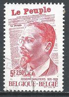 Belgium 1977. Scott #B960 (U) Joseph Wauters (1875-1929) Editor Of Le Peuple And Newspaper * - Belgique