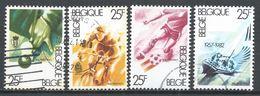 Belgium 1982. Scott #B1013a-d (U) Billiards, Cycling, Soccer & Yachting * Complet Set - Belgique
