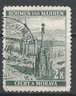 Bohemia & Moravia 1939. Scott #33 (U) Town Square, Olomouc * - Bohême & Moravie