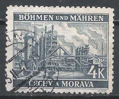 Bohemia & Moravia 1940. Scott #36 (U) Iron Works At Moravskà Ostrava * - Bohême & Moravie