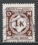 Bohemia & Moravia 1941. Scott #O6 (U) Numeral Of Value * - Bohême & Moravie