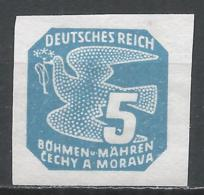 Bohemia & Moravia 1943. Scott #P12 (M) Carrier Pigeon * - Bohême & Moravie
