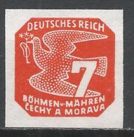 Bohemia & Moravia 1943. Scott #P13 (M) Carrier Pigeon * - Neufs
