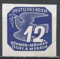 Bohemia & Moravia 1943. Scott #P16 (M) Carrier Pigeon * - Bohême & Moravie