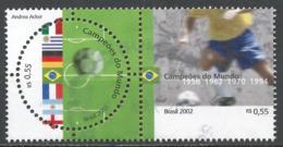 Brazil 2002. Scott #2840 (U) World Cup Soccer Championships, Japan And Korea * - Brazil