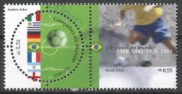 Brazil 2002. Scott #2840 (U) World Cup Soccer Championships, Japan And Korea * - Brésil