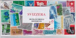 SVIZZERA, LOTTO DI 100 FRANCOBOLLI USATI LAVATI TUTTI DIFFERENTI - Lots & Kiloware (mixtures) - Max. 999 Stamps