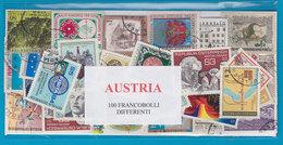 AUSTRIA, LOTTO DI 100 FRANCOBOLLI USATI LAVATI TUTTI DIFFERENTI - Francobolli