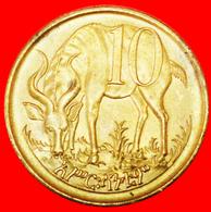 # GREAT BRITAIN: ETHIOPIA ★ 10 CENTIME 1969 (1977) MINT LUSTER! LOW START ★ NO RESERVE! - Ethiopie
