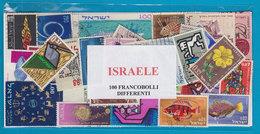 ISRAELE , LOTTO DI 100 FRANCOBOLLI USATI LAVATI TUTTI DIFFERENTI - Francobolli