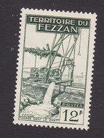Fezzan, Scott #2N19, Mint Hinged, Well Drilling, Issued 1951 - Fezzan (1943-1951)