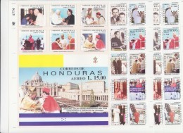 HONDURAS - 2001 - CARDINAL  ANDRES & POPE JOHN PAUL II SHEETLET OF 17  IMPERF  MINT NEVER HINGED - Honduras