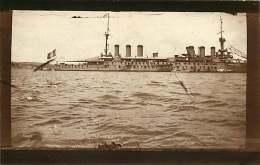 230818 - CARTE PHOTO BATEAU GUERRE CROISEUR CUIRASSE - WALDECK ROUSSEAU - TURQUIE BEYKOZ BEICOS - Warships
