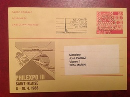 Entier Philexpo III St Blaise Neuchâtel - Stamped Stationery