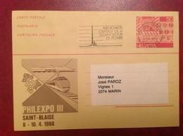 Entier Philexpo III St Blaise Neuchâtel - Interi Postali