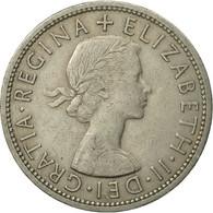 Monnaie, Grande-Bretagne, Elizabeth II, 1/2 Crown, 1960, TB+, Copper-nickel - 1902-1971 : Monnaies Post-Victoriennes