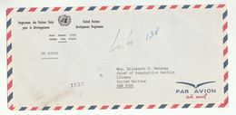 UN In IVORY COAST Via DIPLOMATIC BAG 'Pouch'  To UN NY USA  United Nations Cover Cote D'ivoire - Ivory Coast (1960-...)