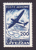 Fezzan, Scott #2NC2, Mint Hinged, Plane Over Fezzan, Issued 1948 - Unused Stamps