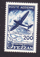 Fezzan, Scott #2NC2, Mint Hinged, Plane Over Fezzan, Issued 1948 - Fezzan (1943-1951)
