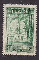 Fezzan, Scott #2NJ2, Mint Hinged, Oasis Of Brak, Issued 1950 - Unused Stamps