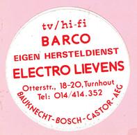 Sticker - ELECTRO LIEVENS - Otterstraat - Turnhout - Autocollants