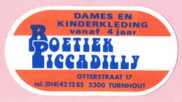 Sticker - Boetiek Piccadilly - Otterstraat - Turnhout - Autocollants